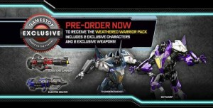 "Transformers News: Official Details on GameStop ""Weathered Warriors"" Transformers: Rise of the Dark Spark Exclusive Content Pack"