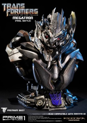 "Transformers News: Prime 1 Studios ""Final Battle"" Megatron Bust"