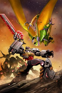 Transformers Prime: Rage of the Dinobots #4 Clean Cover Art
