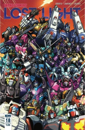 Cover Art for IDW Transformers: Lost Light #18 by Alex Milne & Josh Perez