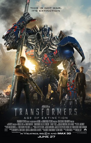 "Transformers News: Official ""It's Not War, It's Extinction"" Poster for Transformers: Age of Extinction"
