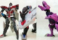 Transformers News: Takara United In-Hand Images: UN-28 Axalon, UN-30 Optimus Primal, UN-31 Beast Megatron