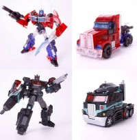 Transformers News: Tokyo Toy Show 2012 Exclusives: translucent TF Prime FE Optimus + black United Optimus Prime