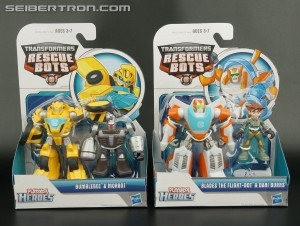 Transformers News: New Transformers Rescue Bots Found at Retail: Bumblebee & Morbot and Blades & Dani Burns
