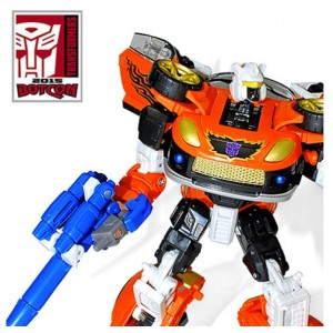 "Transformers News: BotCon 2015 Transformers Exclusives: Official Pics of ""The Loose Cannon"" Shattered Glass Stepper"