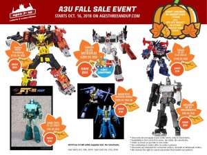 Ages Three and Up Fall Sale Event 2018