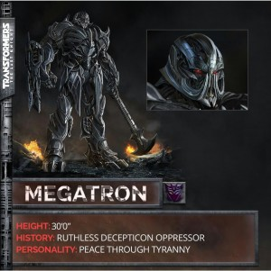 Transformers 5: The Last Knight Megatron Revealed!