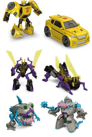 Transformers News: Video Reviews of Titans Return Legends Gnaw, Kickback, and Bumblebee