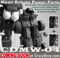 Transformers News: CrazyDevy's CDHW-04 Mean Robot Power Parts