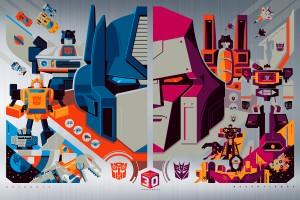 New Acid Free Gallery Transformers 30th Anniversary Metallic Prints by Tom Whalen