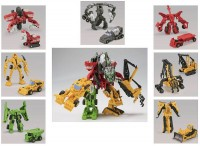 Transformers News: Images of EZ Legends Constructicons Back Packaging & Instruction Sheets