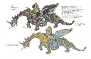 Transformers News: Additional Unused Concept Art by Floro Dery - Mechanobeast, Quintessa, Junkion, Crystal of Power