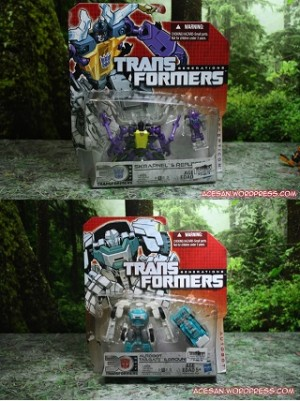 Transformers News: In-Hand Images: Transformers Generations Legends Class Skrapnel with Reflector and Tailgate with Groundbuster