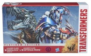 Age of Extinction Platinum Edition Leader Class Optimus Prime and Grimlock on Toysrus.com