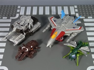 Transformers News: In-Hand Images: Takara Tomy Transformers Generations TG-28 Megatron with Chop Shop & Starscream with Waspinator