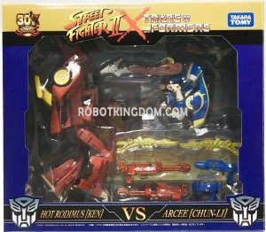 In-Package Images of Transformers X Street Fighter II Figures