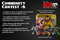 Transformers News: Register for Free with DASH to Win a Masterpiece Lambor and Bruticus