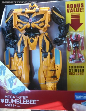 Transformers News: Mega 1-Step Bumblebee with Bonus Legends Class Stinger Found at Retail