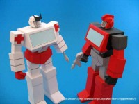 Transformers News: Ironhide and Ratchet Paper Crafts