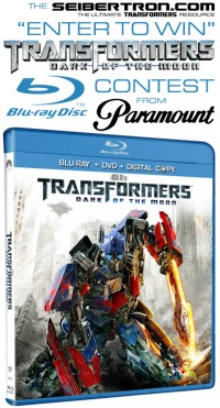 Transformers News: Winners announced from Seibertron.com's contest for Transformers Dark of the Moon Blu-Ray DVD