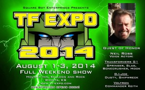 Transformers News: TFExpo 2014: August 1st-3rd in Wichita, Kansas with Neil Ross!