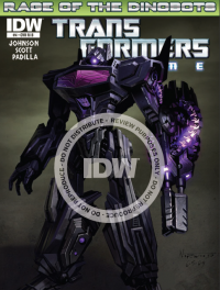 Transformers News: Seibertron.com Reviews IDW Transformers Prime: Rage of the Dinobots #4