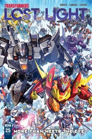 Alex Milne / Josh Perez Cover for IDW Transformers: Lost Light #25