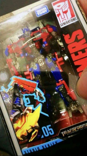 In Package Image of Transformers Studio Series Optimus Prime with Takara Logo