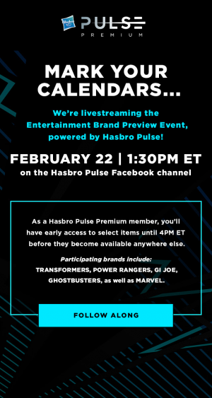 Transformers News: Hasbro Pulse Premium Livestreaming From Toyfair 2020 Tomorrow 2 / 22 at 1:30PM Eastern Time