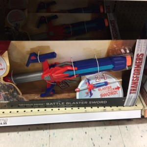 Transformers News: Transformers: The Last Knight Transforming Optimus Prime Sword and Blaster found at US Retail