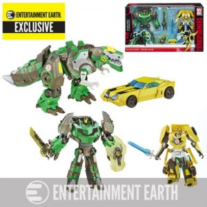 Platinum Edition Robots in Disguise Grimlock / Bumblebee In Stock at Entertainment Earth as Exclusive