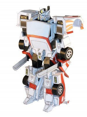 Transformers News: Paperformed Racing Warrior (Drift) Transforming Paper Model