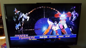 Menus and Bonus Features for Transformers: The Movie from Shout! Factory