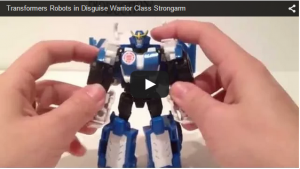 Transformers News: Robots In Disguise 2015 Warrior Class Strongarm Video Review