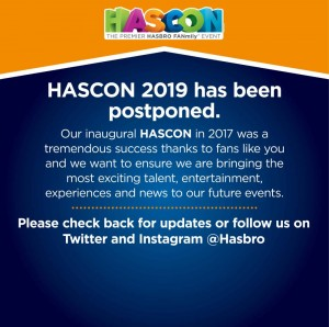 Hascon 2019 Postponed