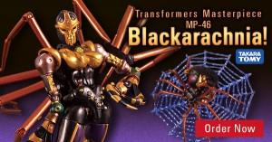 HobbyLink Japan Sponsor News (HLJ) with MP- 46 Blackarachnia