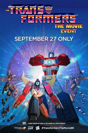 The TRANSFORMERS: THE MOVIE 27 September Screening Adds 300 More Theaters, plus Canadian locations