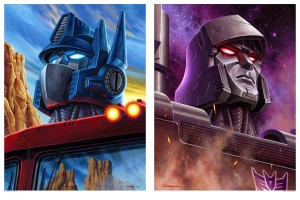 Transformers News: AcidFreeGallery Transformers 30th Anniversary Prints - Optimus Prime and Megatron
