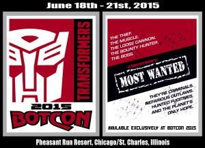 Transformers News: BotCon 2015 Theme Revealed: Cybertron's Most Wanted
