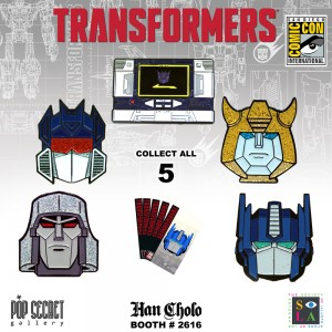 Transformers x Han Cholo SDCC 2017 G1 Pins and Rings