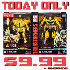 Transformers News: Studio Series 24 + 25 Bumblebee set only $9.99 today only at EntertainmentEarth.com