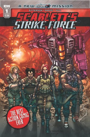 Transformers News: iTunes Preview of IDW Scarlett's Strike Force #1