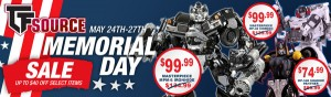 TFSource Memorial Day Sale and Source Cash Final Day! Save Up to $40 off select Masterpiece Figures!