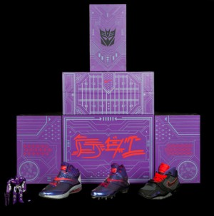 "Transformers News: ""Megatron Rises"" Nike Air CJ81 Trainer and Action Figure - Further Details"