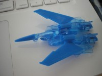 Transformers News: New Images of Takara Exclusive EZ Collection Clear Blue Thundercracker.
