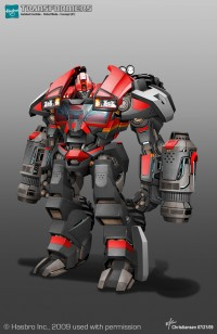 Transformers News: Ken Christiansen Reveals Transformers Prime Ironhide Concept Art