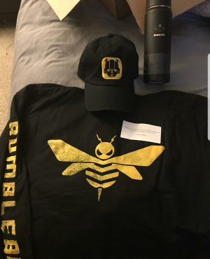 Transformers News: Photos of Cast and Crew Gifts from Bumblebee: The Movie