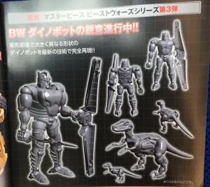 CG Renders for Takara Tomy Transformers Masterpiece Dinobot