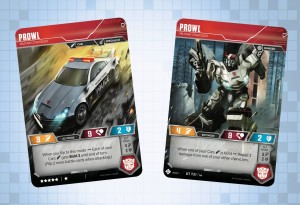 Prowl, Skywarp and Wheeljack revealed for the Official Transformers Trading Card Game