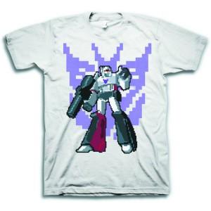 Transformers News: Transformers Megatron Pixel Silver T-Shirt